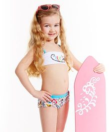Splash About Bandeau Bikini L'Histoire De Birdy - White