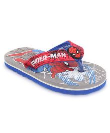Spider Man Flip Flops - Grey Red
