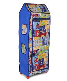 Kids Zone Big Jinny Folding Almirah Printed - Blue