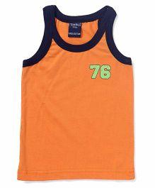 Taeko Sleeveless Vest Printed - Orange Navy