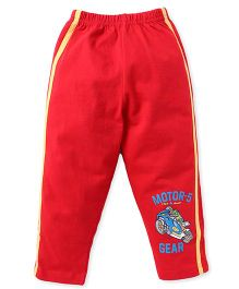 Taeko Track Pants Motor Gear Print - Red