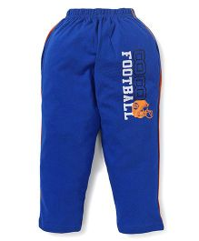 Taeko Track Pant Football Print - Royal Blue