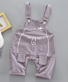 Pre Order - Awabox Teddy Bear Dungaree - Grey