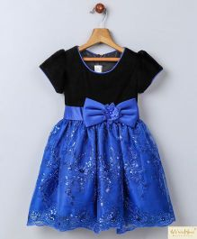 Whitehenz Clothing Dark Night Sequin Love Party Dress - Blue