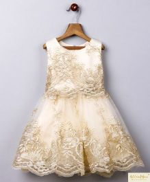 Whitehenz Clothing Moonlight Lace Lovely Party Dress - Golden