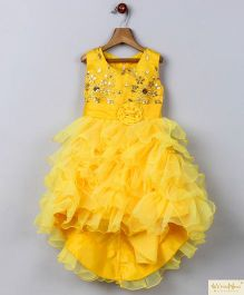 Whitehenz Clothing Candy Land High Low Party Dress - Yellow