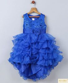 Whitehenz Clothing Candy Land High Low Party Dress - Blue