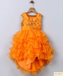 Whitehenz Clothing Candy Land High Low Party Dress - Orange