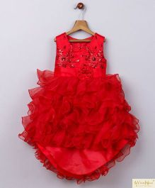 Whitehenz Clothing Candy Land High Low Party Dress - Red