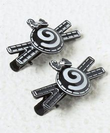 Kidcetra Pair Of Spiral Design Alligator Hairclip - Black