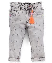Vitamins Ice Cloud Wash Jeans - Light Grey