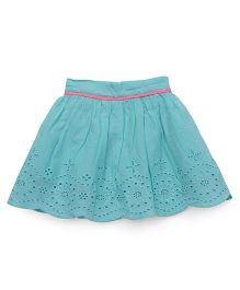 Vitamins Skirt Hakoba Design - Cyan Blue