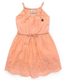 Vitamins Singlet Frock Hakoba Design - Soft Orange