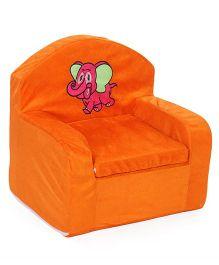 Lovely Kids Sofa Chair Elephant Embroidery - Orange