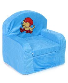Lovely Kids Sofa Chair Dog Embroidery - Blue