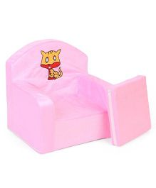 Lovely Kids Sofa Chair Cat Embroidery - Pink