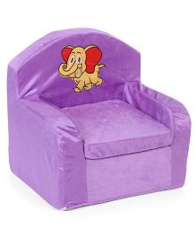 Lovely Kids Sofa Chair Elephant Embroidery - Purple