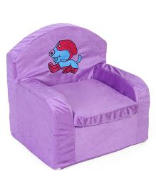 Lovely Kids Sofa Chair Dog Embroidery - Purple