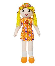 Ultra Candy Doll Soft Toy With Polka Dots Orange - Height 68.5 cm