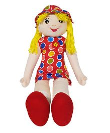 Ultra Candy Doll Soft Toy Polka Dots With Yellow Hair - Height 68.5 cm