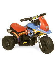 Marktech Battery Operated Bike Ride On B WILD Mini Turbo 318 Y - Blue Red