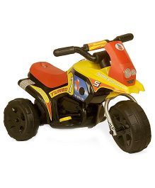 Marktech Battery Operated Bike Ride On B WILD Mini Turbo 318 Y - Yellow Red
