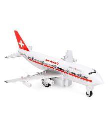 Speedage Jumbo 747 Swissair Plane - Red And White