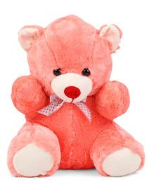 Dimpy Stuff Teddy Bear Soft Toy Coral - 37 cm