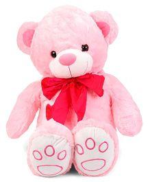 Dimpy Stuff Teddy Bear With Silk Bow  Pink - 60 cm