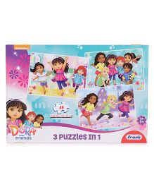 Frank Dora And Friends 3 In 1 Puzzle Pink - 48 Pieces