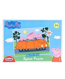 Frank Peppa Pig Jigsaw Puzzle Blue - 24 Pieces