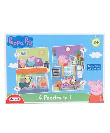 Frank 4 In 1 Peppa Pig Puzzle - Blue