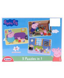 Frank 3 In 1 Peppa Pig Puzzle Blue - 26 Pieces