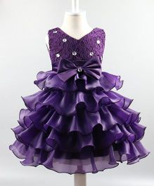 Wonderland Beautiful Frilled Dress - Purple