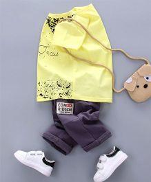 Petite Kids Designer Tee & Pant Set - Yellow