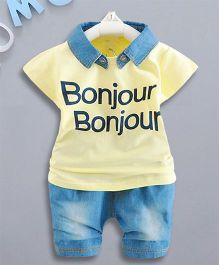 Petite Kids 2 Piece Dress Set - Yellow