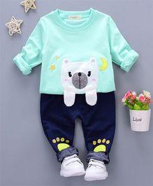 Petite Kids Polar Bear Tee & Pant Set - Blue