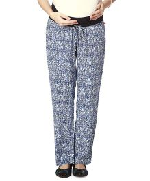 Nine Maternity Comfy Printed Pajamas - Blue