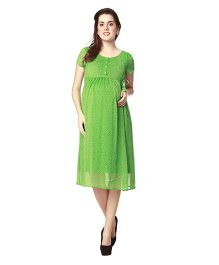 Nine Maternity Printed Dress - Green