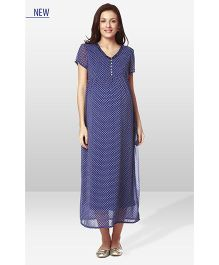 Nine Maternity Dress - Blue