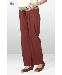 Nine Maternity Wear Pajama Pants - Brown