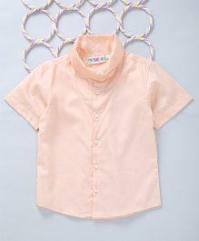 Popsicles Clothing by Neelu Trivedi Cowl Neck Shirt - Peach