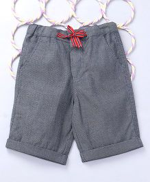 Popsicles Clothing by Neelu Trivedi Twill Dobby Shorts - Grey