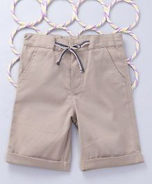 Popsicles Clothing by Neelu Trivedi Twill Shorts - Beige