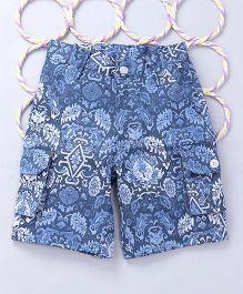 Popsicles Clothing by Neelu Trivedi Printed Shorts - Blue