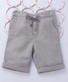Popsicles Clothing by Neelu Trivedi Dobby Twill Shorts - Grey