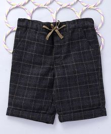 Popsicles Clothing by Neelu Trivedi Scottish Checkered Shorts - Grey & Brown