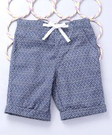 Popsicles Clothing by Neelu Trivedi Printed Shorts - Blue & White