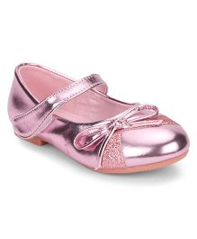 Bash Velcro Closure Belly Shoes - Pink