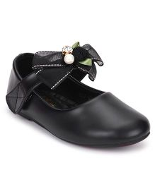 Bash Belly Shoes Bow & Floral Detail - Black
